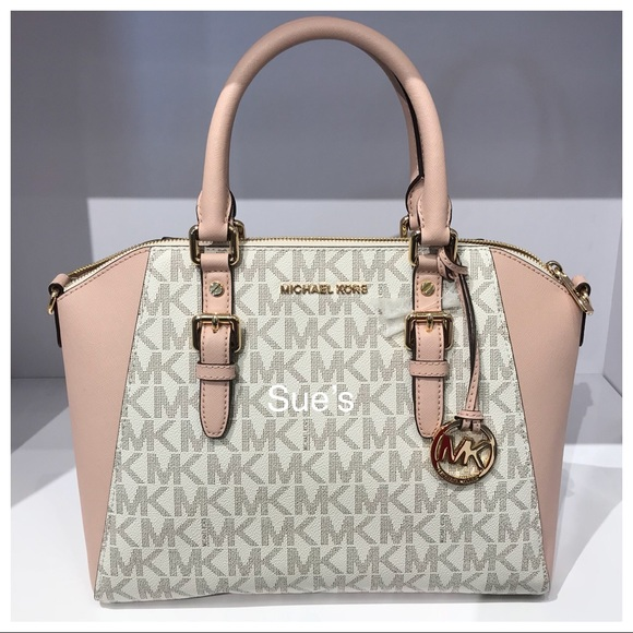 e83cba7d36cd Michael Kors Bags | Nwt Mk Ciara Large Top Zip Satchelvanillaballet ...
